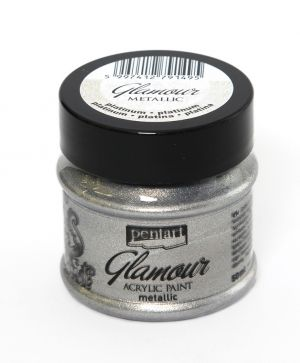 Glamour acrylic paint metallic 50 ml -platinum P29394