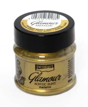 Glamour acrylic paint metallic 50 ml - antique gold P29400