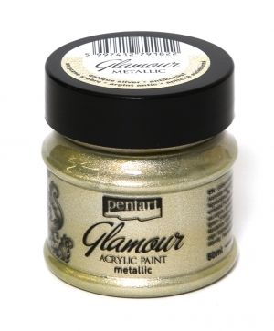Glamour acrylic paint metallic 50 ml - antique silver P29396