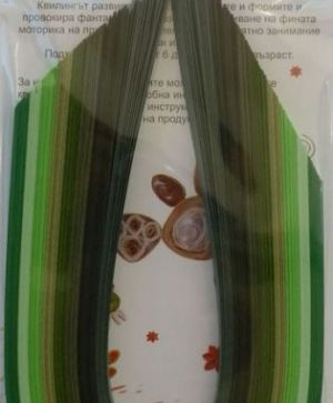Quilling paper 6mm - mix green 8B-6