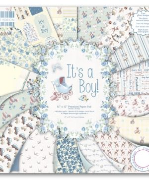 "First edition Paper Pad 12""x12"" - It's a boy FEPAD075"