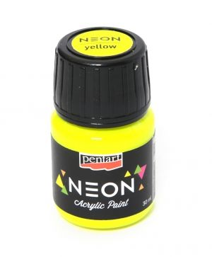 Acrylic paint neon 30 ml - yellow P116476