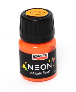 Acrylic paint neon 30 ml - orange P16477