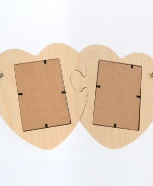 Wooden frame for pictures - hearts puzzle IDEA1566