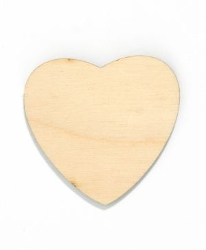 Wooden figurine - Heart 6cm IDEA1559