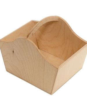 Wooden basket 18,5х12,5х14cm - IDEA1574