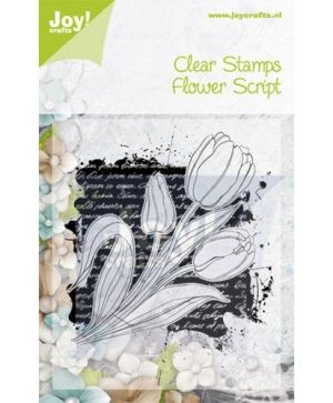 Clear Stamp 8,5x12cm - Flower script 6410-0341