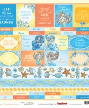 "One-sided paper 12""*12""  - Ocean Enchantment, Mermaid Whispers SCB220610107B"