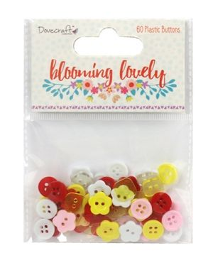 Buttons for decoration 60pcs - Blooming Lovely DCBTN018