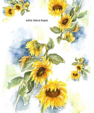 Decoupage Rice Paper A4 - Sunflower painting ITD-R913