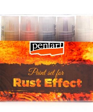 Rust effect paint set, 5 x 20 ml - P29762
