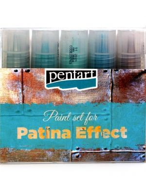 Patina effect paint set, 5 x 20 ml - P29763