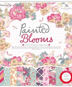 "Dovecraft Paper Pad 12""x12"" - Painted Blooms DCPAP049"