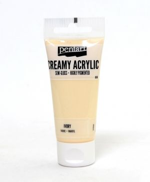 Creamy acrylic paint semi-gloss 60 ml - ivory P27943