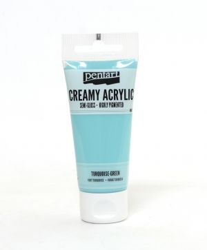 Creamy acrylic paint semi-gloss 60 ml - turquoise green P27986