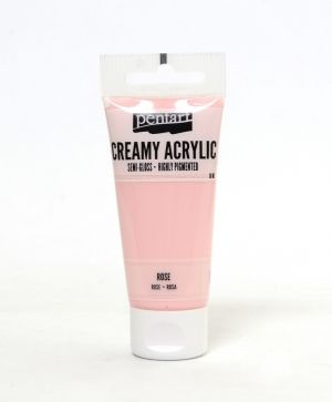 Creamy acrylic paint semi-gloss 60 ml - rose P27970