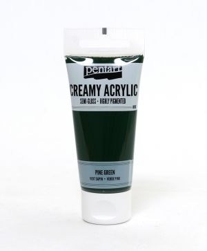 Creamy acrylic paint semi-gloss 60 ml - pine green P27957