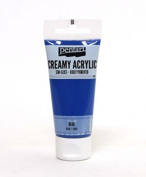Creamy acrylic paint semi-gloss 60 ml - blue P27948