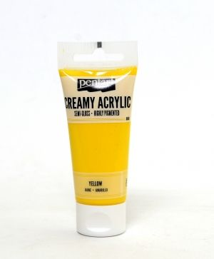 Creamy acrylic paint semi-gloss 60 ml - yellow P27947