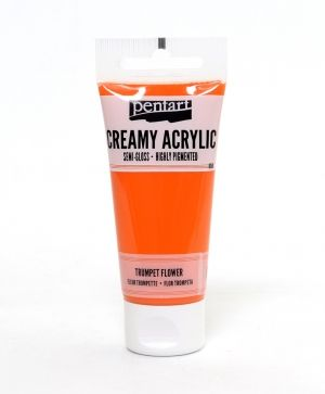 Creamy acrylic paint semi-gloss 60 ml - trumpet flower P27945