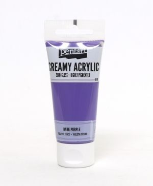 Creamy acrylic paint semi-gloss 60 ml - dark purple P27940