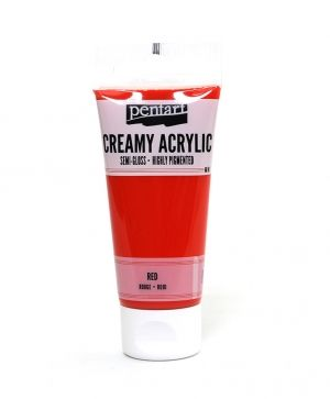 Creamy acrylic paint semi-gloss 60 ml - red P27939