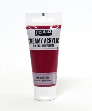 Creamy acrylic paint semi-gloss 60 ml - sour cherry P27938