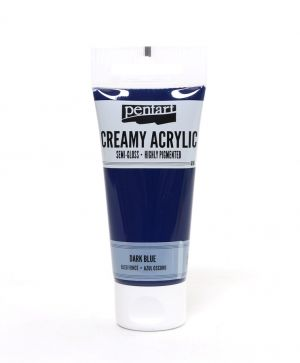 Creamy acrylic paint semi-gloss 60 ml - dark blue P27937