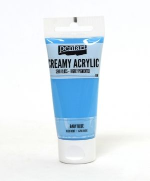 Creamy acrylic paint semi-gloss 60 ml - baby blue P27935