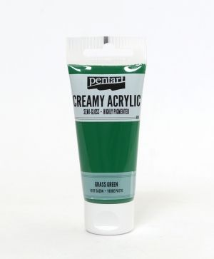 Creamy acrylic paint semi-gloss 60 ml - grass green P27933