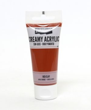 Creamy acrylic paint semi-gloss 60 ml - red clay P27928