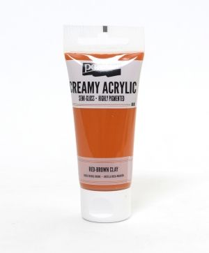 Creamy acrylic paint semi-gloss 60 ml - red-brown P27926