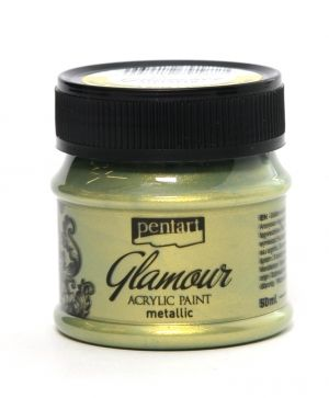 Glamour acrylic paint metallic 50 ml - greenish gold P29399