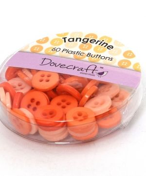 Buttons for decoration 60pcs - Tangerine DCBOX001-12