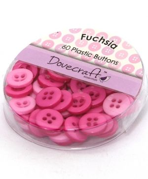 Buttons for decoration 60pcs - Fuchsia DCBOX001-7