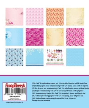 "Paper pad 6""x6"" 24 sheets - Rhapsody in Blue SCB220610409X"