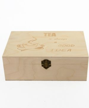 Wooden tea box 23x15x8cm - Tea is always a good idea IDEA1609