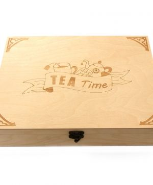 Wooden tea box 24х32х7cm - Tea time IDEAN1610