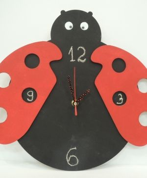 Wooden wall clock base - Ladybug IDEA1327