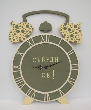 MDF wall clock base alarm clock, big - IDEA1251