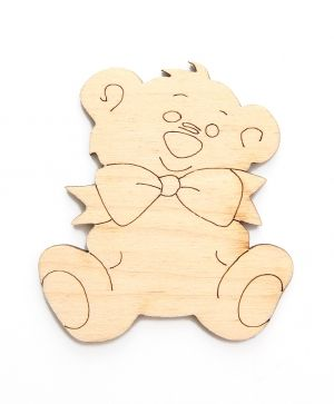 Wooden figurine -  Teddy bear IDEA1444