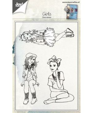 Clear Stamp - Girls sitting-standing 6410-0417