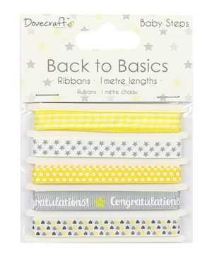 Dovecraft Back to Basics Baby Steps Card Craft Embellishment Pearls