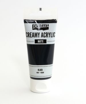 Creamy acrylic paint  matte 60 ml - black P29693