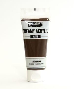 Creamy acrylic paint  matte 60 ml - earth brown P29669