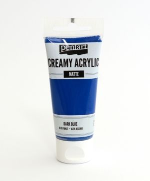 Creamy acrylic paint  matte 60 ml - dark blue P29687