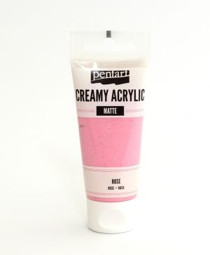 Creamy acrylic paint  matte 60 ml - rose P29677