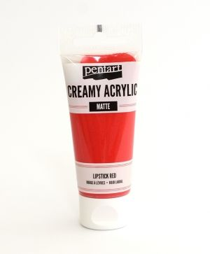 Creamy acrylic paint  matte 60 ml - lipstick red P29671