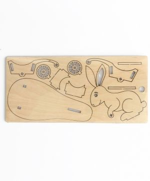 Wooden stand for egg - bunny with cart IDEA0619