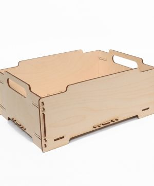 Wooden crate 32,5x23,5x13 cm - IDEA1625